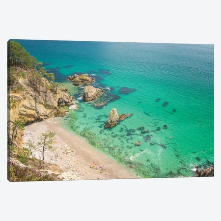 Crozon Paradise Beach In Brittany Canvas Print #PHM367} by Philippe Manguin Canvas Artwork
