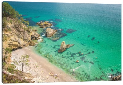 Crozon Paradise Beach In Brittany Canvas Art Print