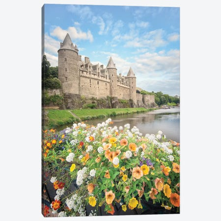 Castle Of Josselin Canvas Print #PHM36} by Philippe Manguin Art Print