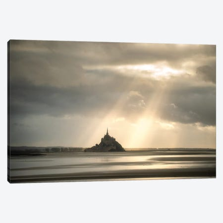 Biblic Signs On Mont Saint Michel Canvas Print #PHM373} by Philippe Manguin Canvas Artwork