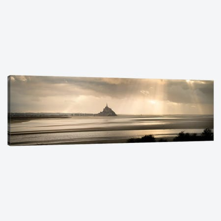 Big Panoramic View Of Mont Saint Michel Canvas Print #PHM374} by Philippe Manguin Art Print