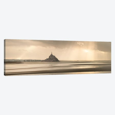 Panoramic Mont Saint Michel Bay Canvas Print #PHM376} by Philippe Manguin Canvas Print