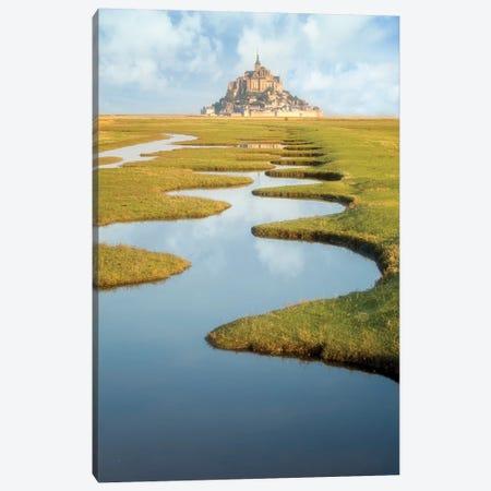 Mont Saint Michel Polders Canvas Print #PHM378} by Philippe Manguin Canvas Artwork
