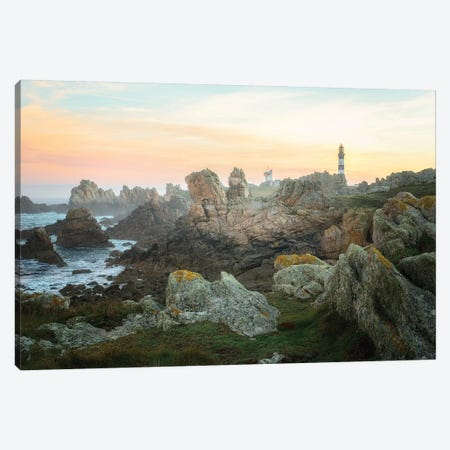 Ouessant Lighthouse Canvas Print #PHM379} by Philippe Manguin Canvas Artwork