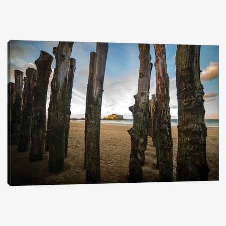 Saint Malo Beach Canvas Print #PHM381} by Philippe Manguin Canvas Print