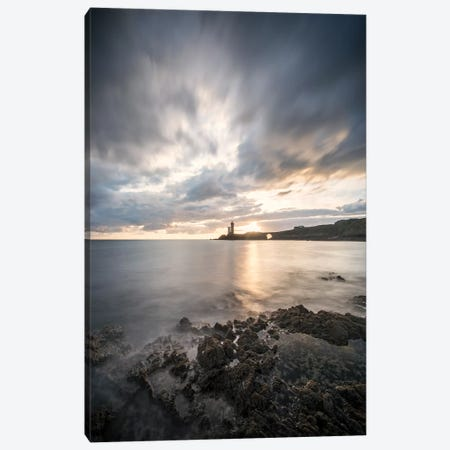 Lighthouse Petit Minou - End Day Canvas Print #PHM390} by Philippe Manguin Canvas Art