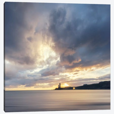 Petit Minou Lighthouse In Brittany - Square Canvas Print #PHM393} by Philippe Manguin Canvas Art