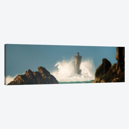 Phare Du Four On A Windy Day Canvas Print #PHM394} by Philippe Manguin Canvas Print