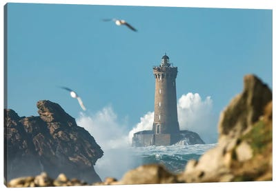 Windy Day In Brittany Canvas Art Print