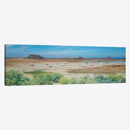 Plougrescant Shorecoast Canvas Print #PHM403} by Philippe Manguin Canvas Artwork