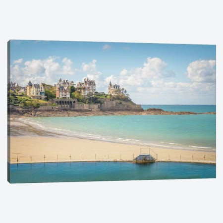 Dinard Beach Canvas Print #PHM404} by Philippe Manguin Canvas Art Print