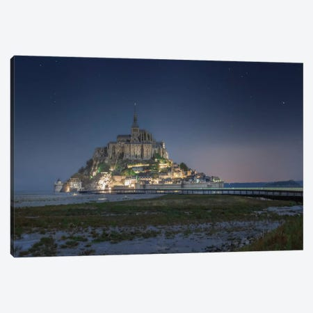 Mont Saint Michel Sweet Night 3-Piece Canvas #PHM405} by Philippe Manguin Canvas Art Print