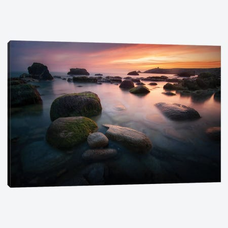 Quiberon Sunset Canvas Print #PHM414} by Philippe Manguin Canvas Wall Art