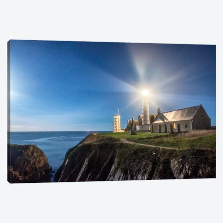 Saint Mathieu Lighthouse Canvas Print #PHM417} by Philippe Manguin Canvas Artwork