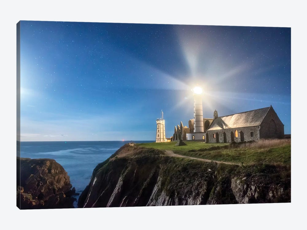 Saint Mathieu Lighthouse by Philippe Manguin 1-piece Canvas Wall Art