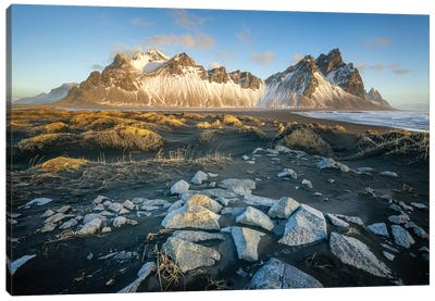 Iceland Vestrahorn, Stockness Canvas Art Print