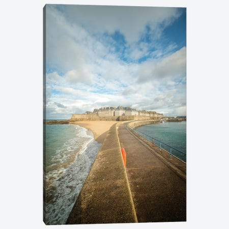 Saint Malo, French Old City Of Brittany 3-Piece Canvas #PHM420} by Philippe Manguin Canvas Art