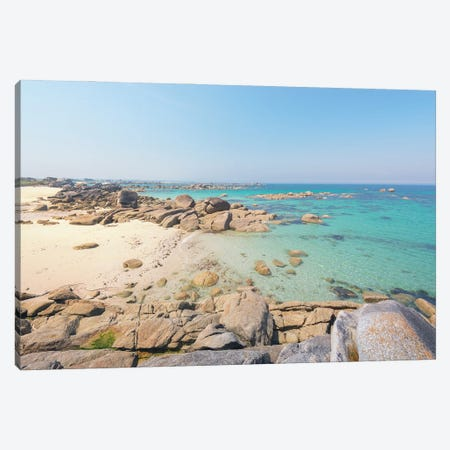 Kerlouan Coast And Beach In Brittany Canvas Print #PHM424} by Philippe Manguin Canvas Print