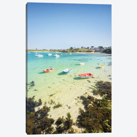 Clear Water In Brittany 3-Piece Canvas #PHM428} by Philippe Manguin Canvas Artwork