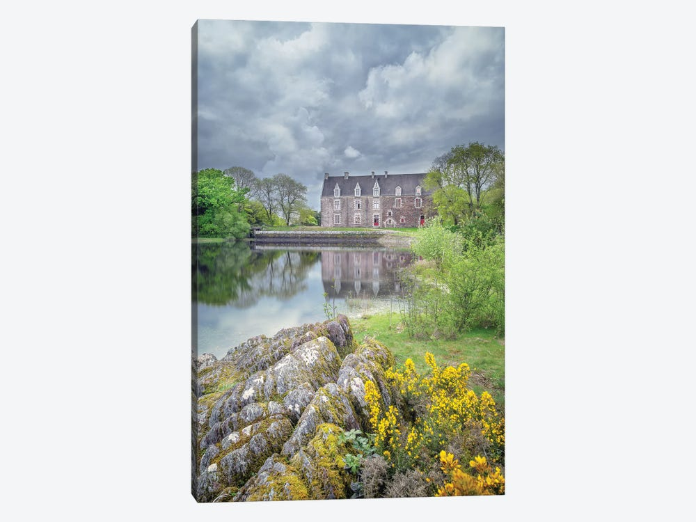 Comper French Castle In Broceliande by Philippe Manguin 1-piece Canvas Art