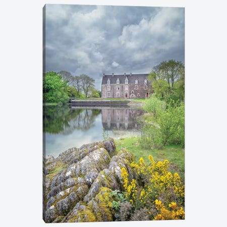 Comper French Castle In Broceliande 3-Piece Canvas #PHM42} by Philippe Manguin Art Print