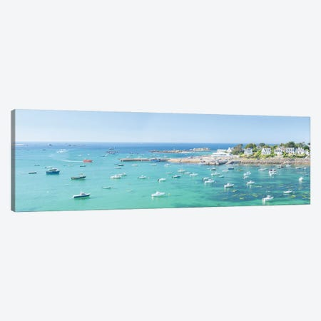 Portsall In Brittany, Panoramic Canvas Print #PHM430} by Philippe Manguin Canvas Print
