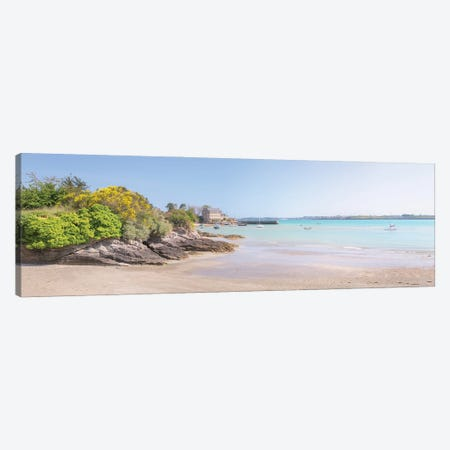 Saint Jacut De La Mer, Chatelet Beach Panoramic Canvas Print #PHM434} by Philippe Manguin Canvas Wall Art