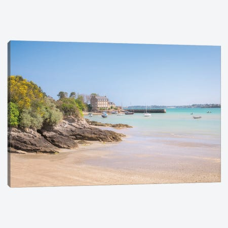 Saint Jacut De La Mer, Chatelet Harbor Canvas Print #PHM436} by Philippe Manguin Canvas Art