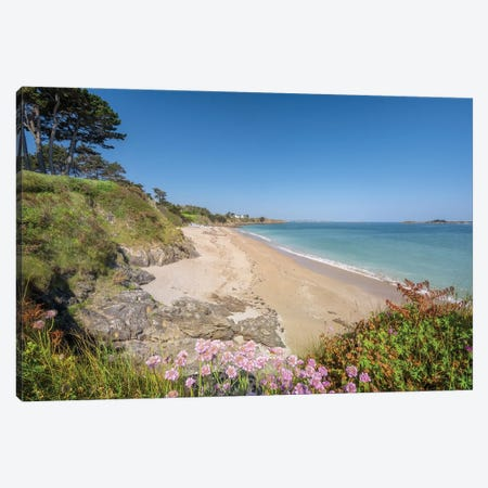Saint Jacut De La Mer, Rougeret Beach Canvas Print #PHM439} by Philippe Manguin Canvas Art Print