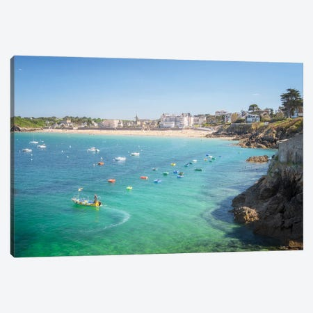 Saint Lunaire In Brittany 3-Piece Canvas #PHM440} by Philippe Manguin Canvas Art