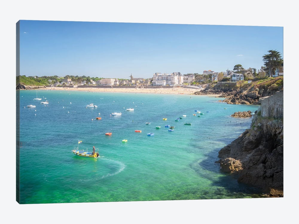 Saint Lunaire In Brittany by Philippe Manguin 1-piece Canvas Art