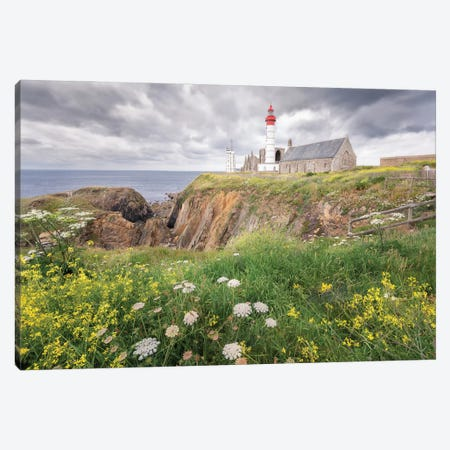 Saint Mathieu Lighthouse In Brittany Canvas Print #PHM441} by Philippe Manguin Canvas Wall Art