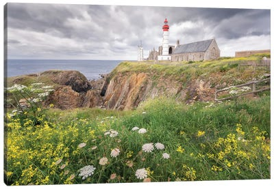 Saint Mathieu Lighthouse In Brittany Canvas Art Print
