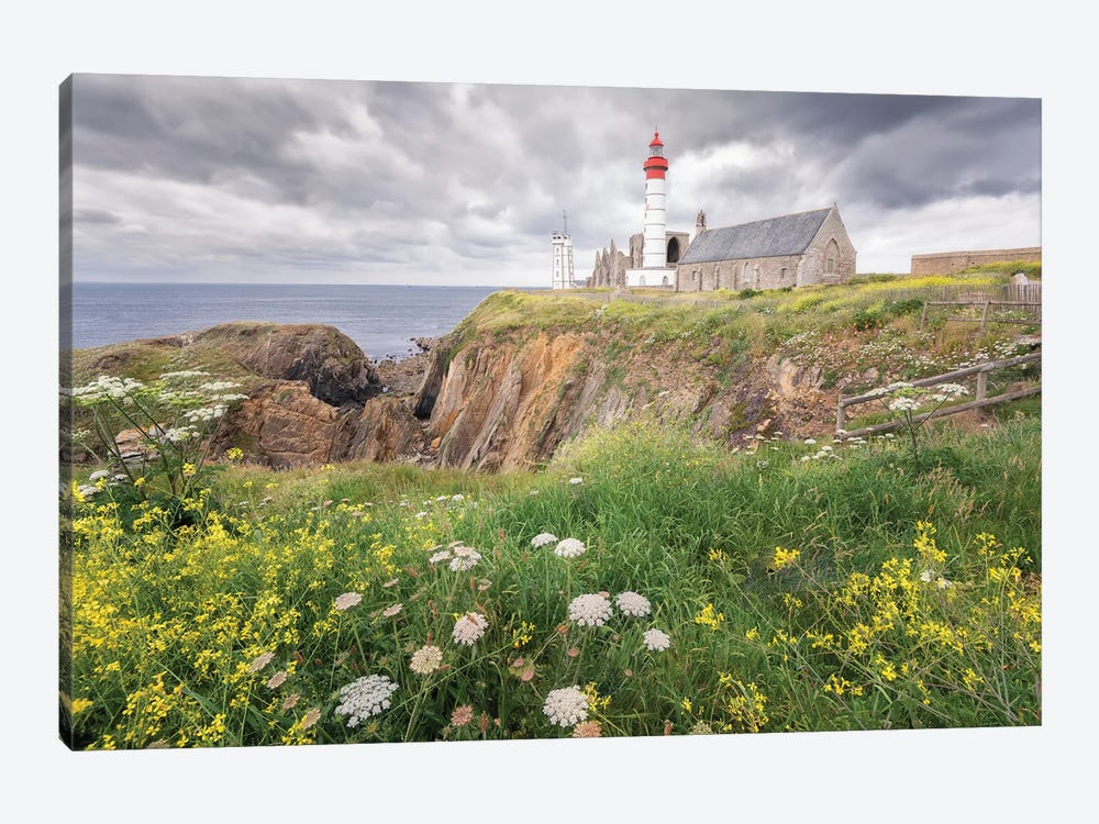 Saint Mathieu Lighthouse In Brittany by Philippe Manguin 1-piece Art Print