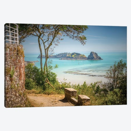 Cancale Bay In Brittany 3-Piece Canvas #PHM442} by Philippe Manguin Canvas Artwork