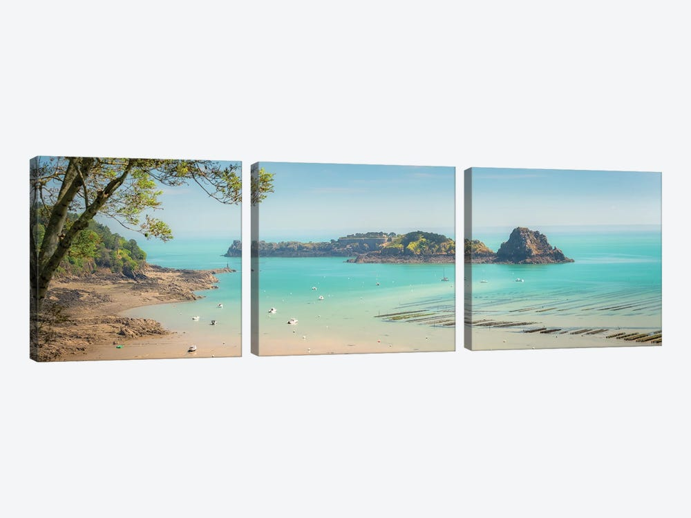 Paradise Island by Philippe Manguin 3-piece Canvas Print