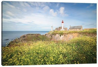 Saint Mathieu Lighthouse Landscape Canvas Art Print