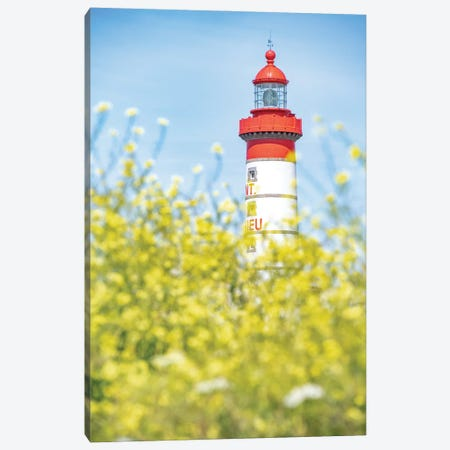 Saint Mathieu Lighthouse Portrait Canvas Print #PHM447} by Philippe Manguin Canvas Print
