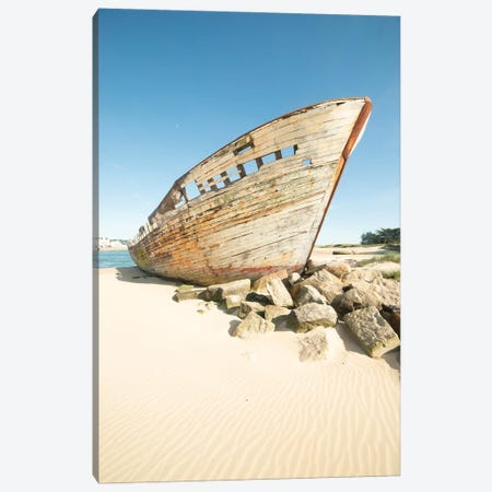 The Old Boat Wreck 3-Piece Canvas #PHM449} by Philippe Manguin Canvas Art