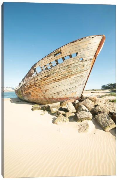 The Old Boat Wreck Canvas Art Print