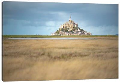 Lonely Mont Saint Michel Canvas Art Print