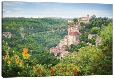 Rocamadour Old City In France Canvas Art Print
