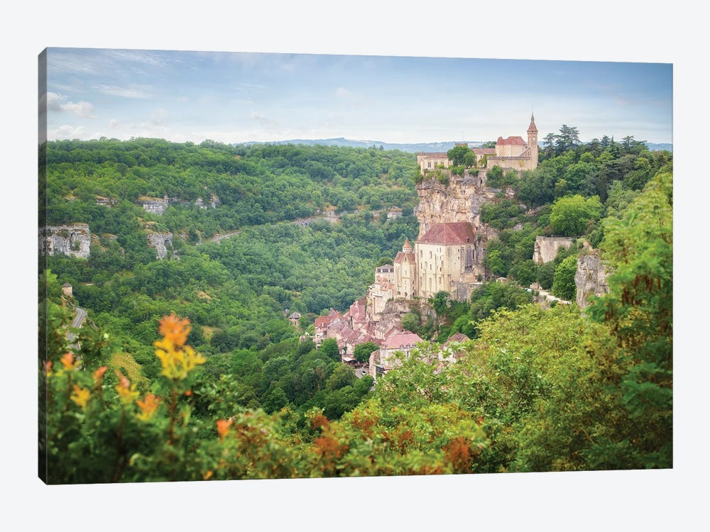 Rocamadour Old City In France by Philippe Manguin 1-piece Canvas Print