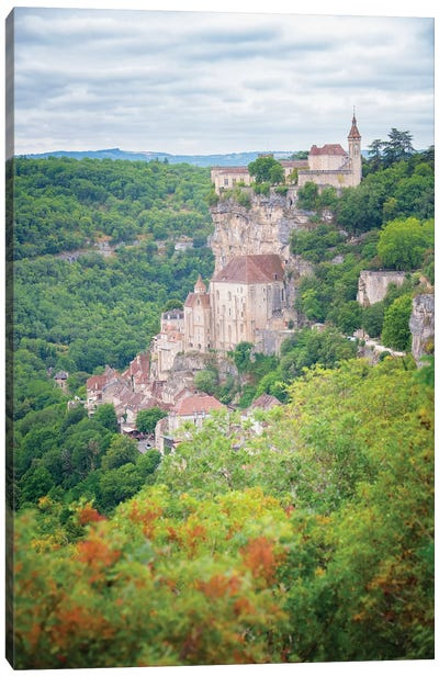 Rocamadour French Old Medieval City Canvas Art Print