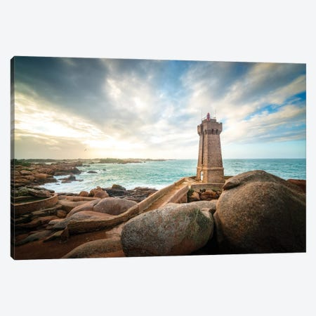 Men Ruz Lighthouse In Brittany Canvas Print #PHM456} by Philippe Manguin Canvas Artwork