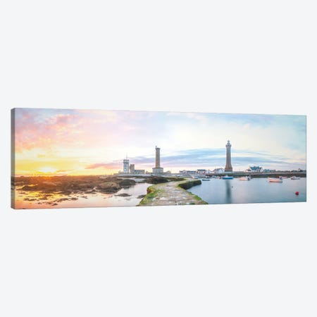 Panoramic Lighthouse In Penmarch Canvas Print #PHM457} by Philippe Manguin Canvas Artwork