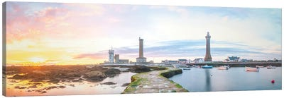 Panoramic Lighthouse In Penmarch Canvas Art Print
