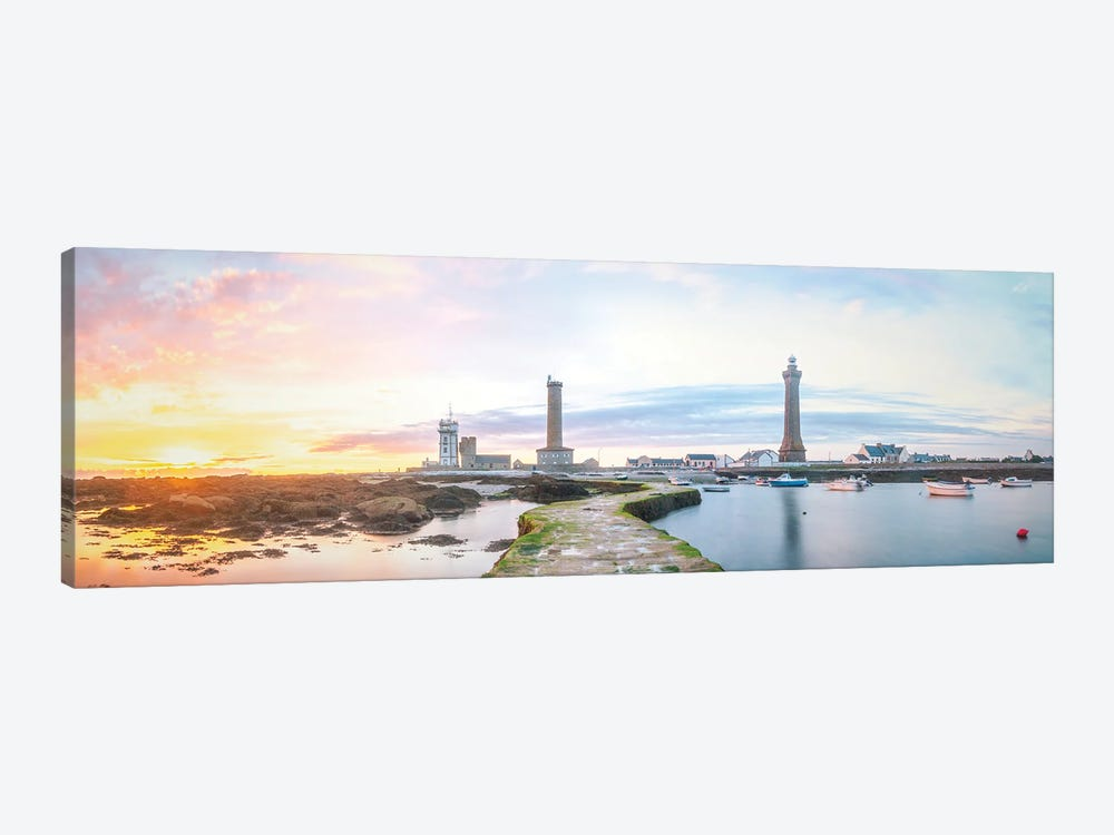 Panoramic Lighthouse In Penmarch by Philippe Manguin 1-piece Canvas Artwork