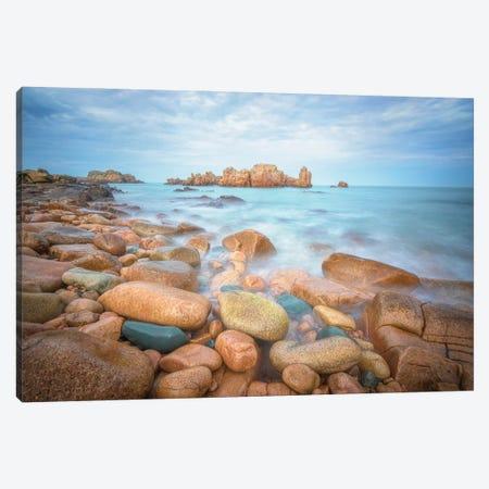 Rocks Beach Canvas Print #PHM463} by Philippe Manguin Canvas Wall Art