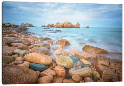 Rocks Beach Canvas Art Print